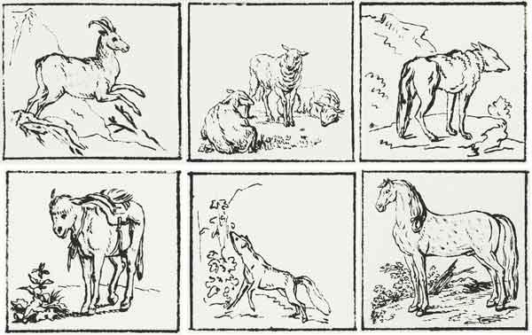 Рисунки животных к басням эзопа тушь